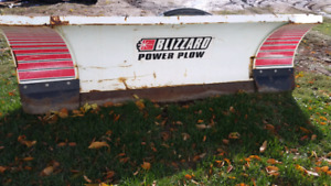 Skidsteer Blizzard power plow
