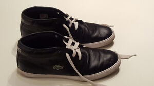 Lacoste Man Ampthill Black Size 9 1/2 Leather