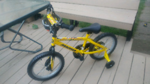 Brand New - Never used Kids bike with CCM Helmet