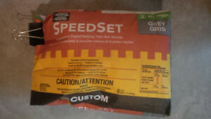 Tile Mortar thin-set : Speedset - Grey - New