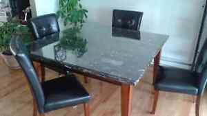 Table marbre buy sell items tickets or tech in - Table de cuisine plus chaises ...