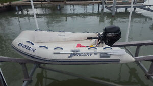 2011 MERCURY 10' HARD BOTTOM DINGY BOAT,BOAT,FISHING