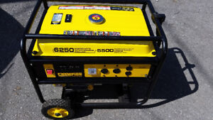 Champion Gas Generator 6250 used only 10 hours