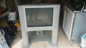 Classic JVC flat screen TV with stand in very good condition
