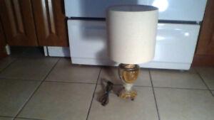 Antique Marble n Brass Lamp $50 (SWEET)