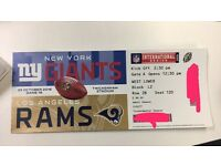 1 Ticker for NFL game Rams vs Giants at Twickenham today 14:30 kick off.