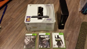 XBOX 360 Kinect Bundle with 3 COD games
