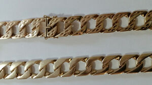 225 gram 10k gold necklace/ curb chain