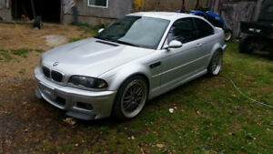 2x 2002 BMW M3 Coupe (2 door) with spare shell