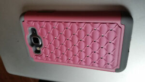 Brand new Galaxy Grand Prime cell phone case (blingy pink)