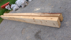 New spruce timbers