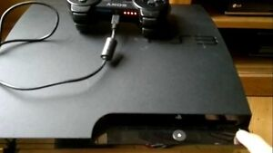 160GB PLAYSTATION 3 SLIM INCLUDE CONTROLLER + 10 DOWNLOADED GAME