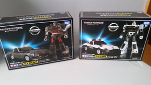 Transformers masterpiece blue streak and prowl.