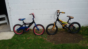 Pair of boys bmx style bikes $60.00 for pair