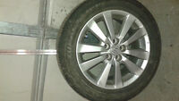 Toyota Corolla Alloy Rims and Tires with good tred