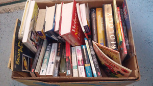 Box of 33 assorted books - great for yard sale