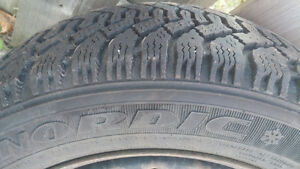 """15"""" Goodyear Nordic Winter Tires 195/55R/15 and rims X4 Belleville Belleville Area image 5"""