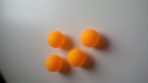 ping pong balls - $1 for 4