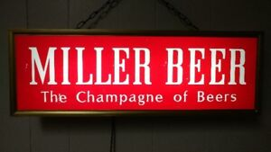 Miller Beer Lighted Sign