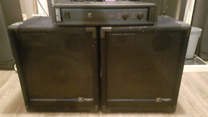 "Yorkville 12"" speakers and matching amp"