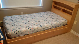 Childrens Single Bed with bookcase headboard
