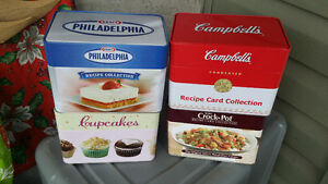 Tin Recipe Collection Box Campbell's Crock Pot Cupcakes Philadel