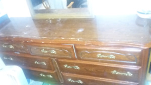 Mirror with dresser looking for 200.