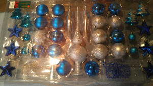 Christmas Decorations, Silver & Blue