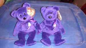 Princess beanie baby 1st and 2nd generations