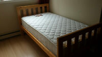 Solid Pine Twin Beds with Mattresses