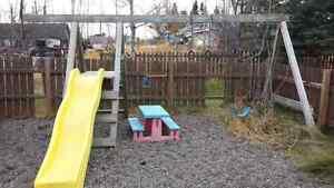 Kids outside swing sets Prince George British Columbia image 3