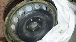 VW 4 steel rims and brand new alloy rim