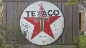 Vintage 6' 2 sided porcelain Texaco sign