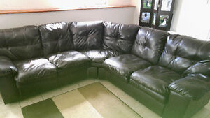 Sectional leather Couch and Reclining Lazy Boy Chair