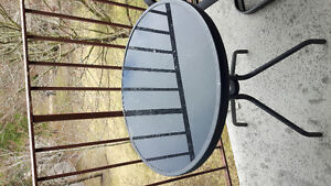 Small Patio Table and Swivel Chairs!