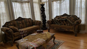 Stunning Hand Carved Solid Wood French Style Living Room
