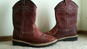 Leather mens boots