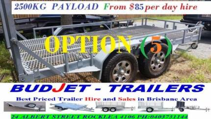 TRAILER HIRE BRISBANE BOBCAT, EXCAVATOR & MACHINERY FROM $85 P/D