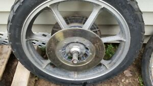 KAWASAKI KZ RIMS AN D TIRES FOR SELL