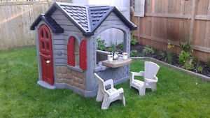 Freshly Painted, Fully Furnished Little Tikes Playhouse