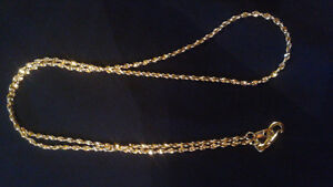 14K Gold Plated 'Singapore Twist' Chain