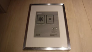 "13"" x 17"" Silver, white and grey picture frames"