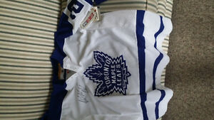 3 OFFICIAL NHL MAPLE LEAF JERSIES (2 AUTOGRAPHED)