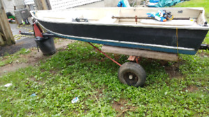 12 ft with trailer (no motor)