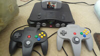 N64 System with games