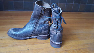 Stylish, Distessed BED STU Military Boots in Excellent Condition