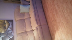 Couch with reclining end seats
