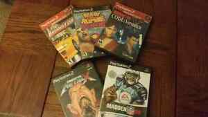 6 Playstation2 games
