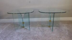 Modern Clear Glass End/Coffee tables