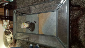 Glass/Tile Coffee table and 2 sides.